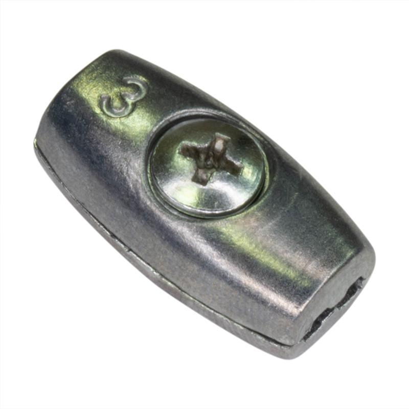 Зажим для троса бочкообразный 3 мм
