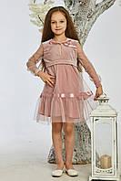 Красивое розовое детское платье от производителя