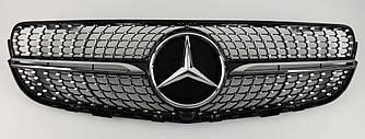 Решетка радиатора Mercedes GLC X253 / Coupe C253 (15-19) стиль Diamond AMG