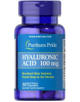 Puritan's Pride Hyaluronic Acid 100 mg, Гиалуроновая кислота (30 капс.)