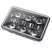 Фара прямокутна LED 4х6 дюйма, 55 Вт, Nissan Ford Ford, GMC Toyota, 12, 45 Вт, MS-4682, DOT emark