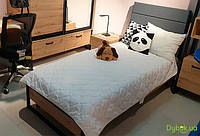 Детская Лофт Кровать 1-сп с наклонным быльцем (б/матраса и каркаса)