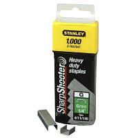 Скобы для строительного степлера Stanley тип G 10мм (Степлер 6-TR250) 1000шт (1-TRA706T)
