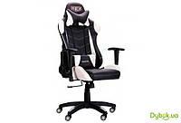 Кресло VR Racer Blade черный/белый PU Relax, арт.515280