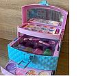 Игровой набор детская косметика - шкатулка косметичка, маникюрный набор, декоративная косметика Frozen, фото 3