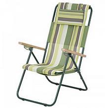 Крісло-шезлонг складне Vitan Ясен (960х585х1020мм), зелене