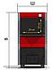 Твердотопливный котел c варочной поверхностью ProTech Econom TTП 18 кВт из котловой стали 2 мм, фото 4