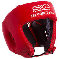 Шлем боксерский открытый Кожвинил SPORTKO UR  Бокс (синий, р-р L)