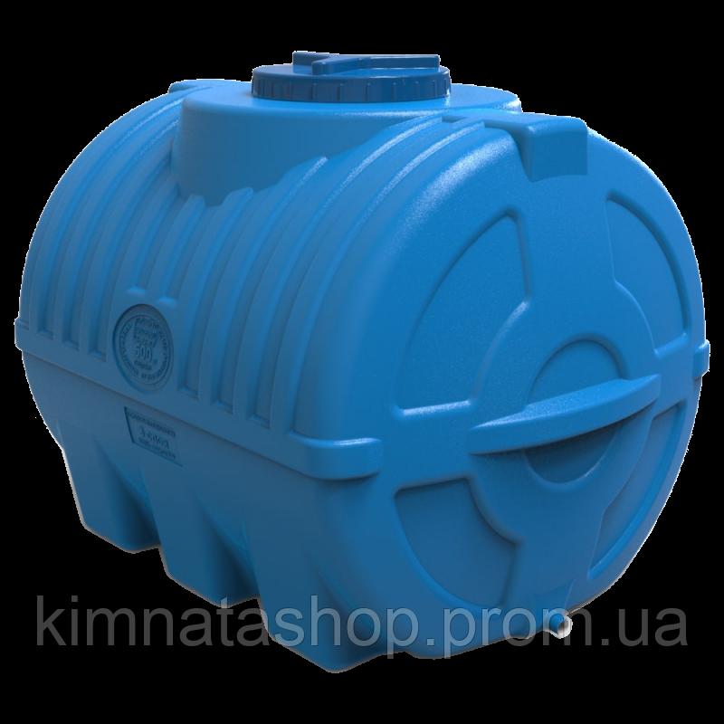Емкость 500 литров горизонтальная трехслойная пищевая