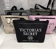 Стильная женская сумка вместительная victoria's secret блестящая. В Расцветках