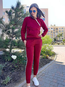 Женский спортивный костюм бордовый с лампасами 46 р. BR-S 1232079221