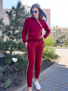 Женский спортивный костюм бордовый с лампасами 48 р. BR-S 1232079221