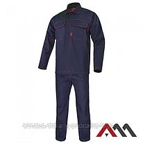 Высококачественная защитная одежда для сварщиков UBRANIE REFLEX BLUE синего цвета ARTMAS