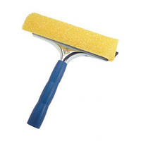 Fratelli Скребок двухсторнний пластиковый для мытья окон Mosguito с абразивной губкой 25см [at20643]