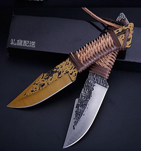 Охотничий нож нескладной ручная робота SR DM-136