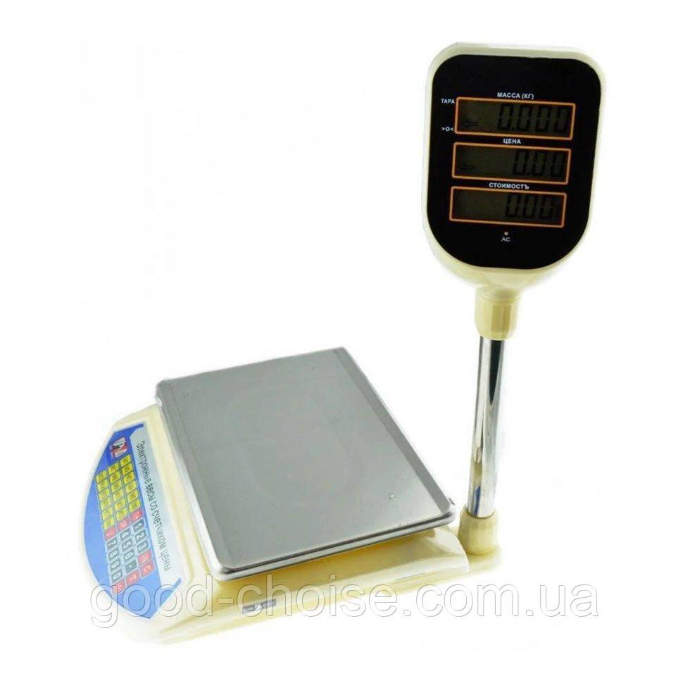 Электронные торговые весы Promotec PM-5052 со счетчиком цены / Весы для торговли