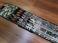 """Набор 6 шампуров """"LUX"""" с деревянной ручкой, чехол-колчан (640х12х3 мм)"""