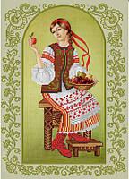 Схема для вышивки бисером Маричка и наливное яблочко КМР 3223