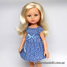 """Сукня """"Блакитний берізка"""" з паєтками для ляльок Паола Рейну"""