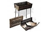Мангал чемодан огонек с ручкой 3 мм на 10 шампуров для приготовления пищи на открытом огне для рыбалки и охоты, фото 4
