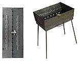 Мангал чемодан огонек с ручкой 3 мм на 10 шампуров для приготовления пищи на открытом огне для рыбалки и охоты, фото 8