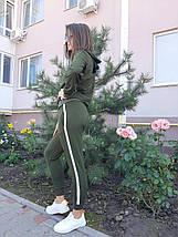 Женский спортивный костюм хаки с лампасами 1233131417, фото 2