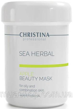 CHRISTINA Sea Herbal Beauty Mask Green Apple - Яблучна маска для жирної і комбінованої шкіри, 250 мл, фото 2
