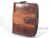 Женский кошелёк из натуральной кожи крокодила River, цвет коричневый