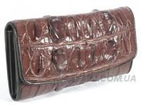 Женский кошелёк из натуральной кожи крокодила, цвет коричневый, фото 1