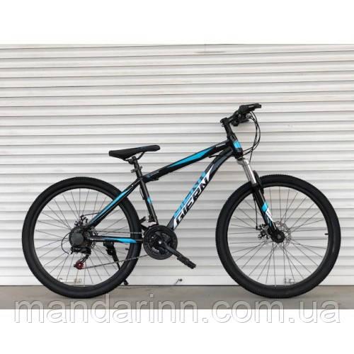 Спортивный велосипед  TopRider-886 26 дюймов. Рама 17. Черно-синий. Шимано Диск тормоза.