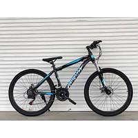 Спортивний велосипед TopRider-886 26 дюймів. Рама 17. Чорно-синій. Шимано Диск гальма., фото 1