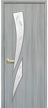 Камея-Р3 Ясень Патина (60, 70, 80, 90см). Коллекция Модерн. Межкомнатные двери МДФ Новый Стиль