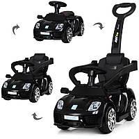 Детский электромобиль - толокар Машина 2 в 1 «Porshe» M 3592L-2 Черный