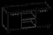 Тумба мобильная помощник  Evolution МДФ 25\605 (1200х440х575), фото 1