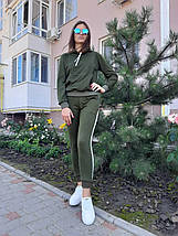 Женский спортивный костюм хаки с лампасами 50 р. BR-S 1233131417, фото 3