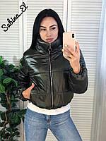 Стильная женская куртка, 42-44 и 46-48 рр, цвет хаки