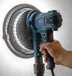 -->Шлифмашина для стен и потолков AL-FA ALDWS15--> PROFI 1,5кВТ-->подсветка -->система пылеудаления