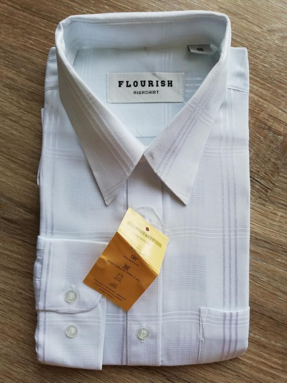 Рубашка с длинным рукавом Белая  размер 16
