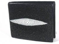 Мужской кошелёк из кожи ската River (ST 52 Black), фото 1