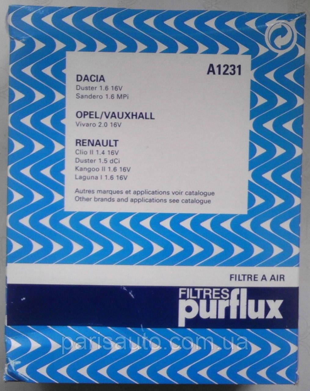 Фильтр воздушный Renault  Clio II Renault Kango LAGUNA Renault Megane II  1.4 1.6 1.8 2.0 16V 8200431051 A1231