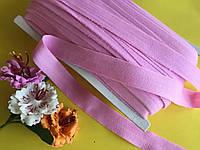 Косая бейка стрейч матовая 2см/46м розовая