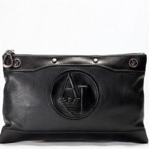 Кожаная мужская сумка Armani (1620 black), фото 1