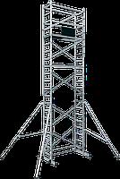 Вышка тура алюминиевая базовый комплект ВТ8 с двумя надстройками