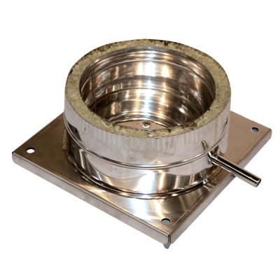 Подставка дымоходная настенная нерж 120/180 мм