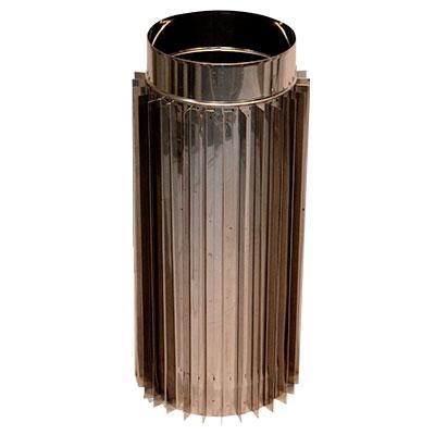 Труба-радиатор дымоходная L=1м нерж. Ø 160 1,0мм