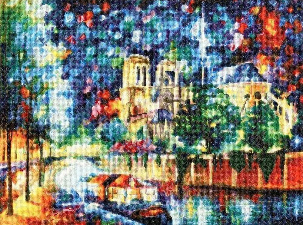 Набор для вышивки крестом Золотое Руно ГМ-043 «Вечерний Париж»