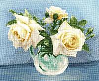 Набір для вишивки хрестом Золоте Руно ЛЦ-079 «Чайні троянди»