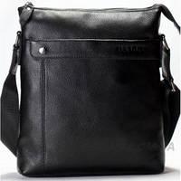 Мужская кожаная сумка на плечо Bally (1583-1 blаck)