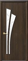 Лилия-Р3 Орех 3d (60, 70, 80, 90см). Коллекция Модерн. Межкомнатные двери МДФ Новый Стиль