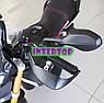 Детский электро-мотоцикл на аккумуляторе Aprilia M 4252EL-2 для детей 3-8 лет с мягкими EVA колесами черный, фото 6